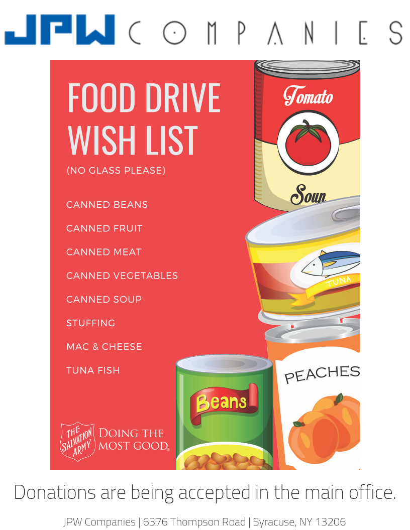 Holiday Food Drive – JPW Companies